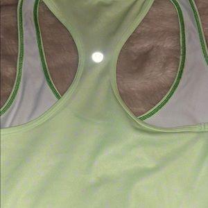 Lululemon lime green polka dot Racerback Tank